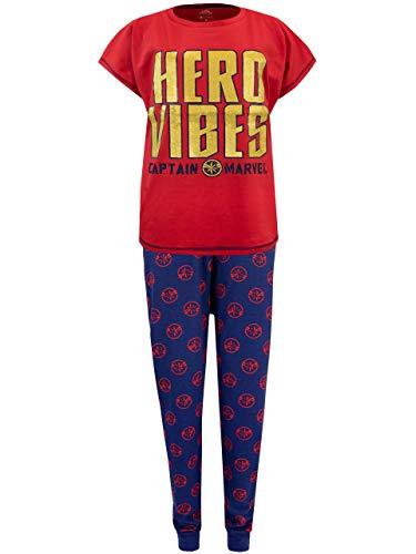 Marvel Captain Womens' Pajamas Size Large Red ()