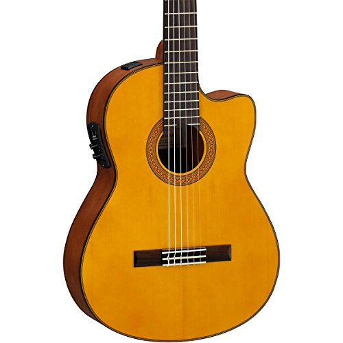 Yamaha CGX122MSC Classical Acoustic-Electric Guitar, Solid Spruce Top