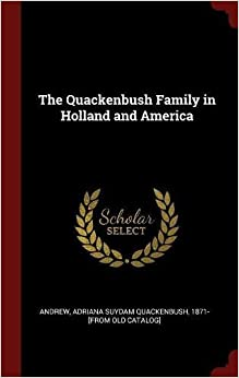 Book The Quackenbush Family in Holland and America