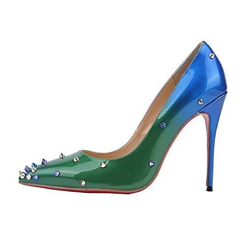 Kevin Fashion - Sandalias con cuña mujer Verde - verde/azul