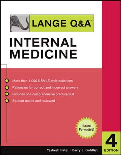 Lange Q&A Internal Medicine, Fourth Edition