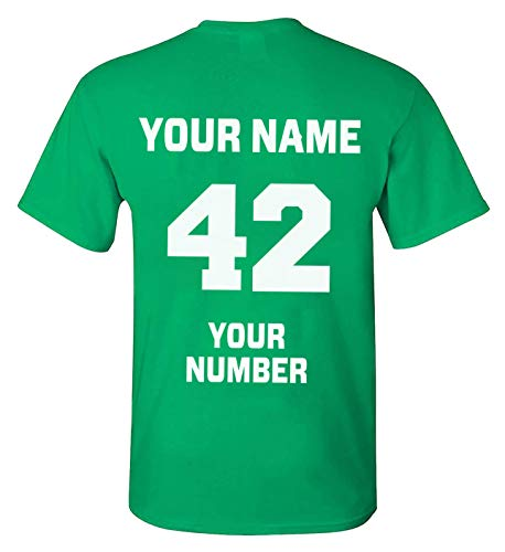 TEEAMORE Men Women Custom T Shirt Add Your Text Design Your Own Back Side Shirt