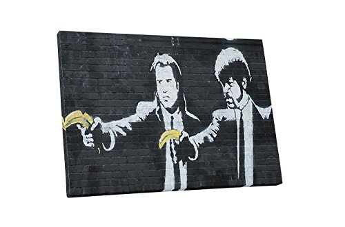 Pingo World 0128QGSED5Y Pulp Fiction by Banksy Gallery Wrapped Canvas Print, 20
