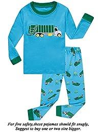Boys Pajamas Little Kids Pjs Sets 100% Cotton Toddler Clothes Sleepwears 521e3c864