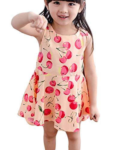 4f39fe27e0 Girls Easter Dress 3-4 Years Old Kawaii Print Flower Nice Ruffle Twirling  Overalls Dress Belle Princess Formal Maxi Midi Tshirt Skirt Daily Shcool  Casual ...