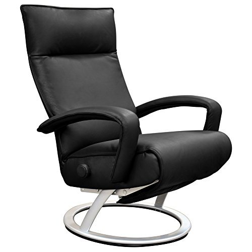 Gaga Recliner Chair by Lafer (Black Genuine Leather FC14)