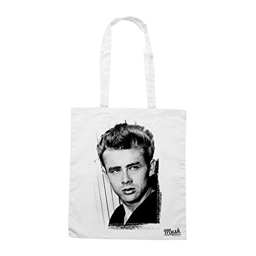 Borsa James Dean - Bianca - Famosi by Mush Dress Your Style