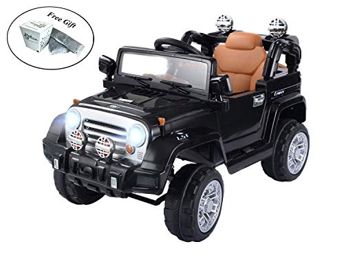 COSTWAY 12 V Kids Ride on Truck with MP3 + LED Lights - Black + FREE E - Book ()