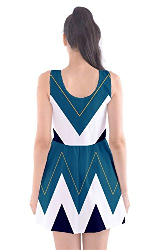 CowCow - Vestido - para mujer Turquoise and White