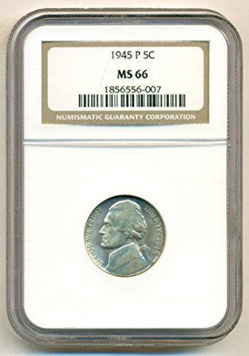 1945 P Jefferson Silver Nickel MS66 NGC