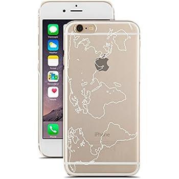 Amazon.com: for iPhone 7 - Super Slim Case - World Map