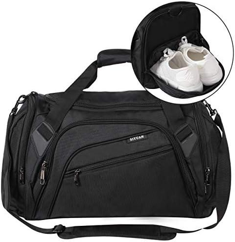 SIYUAN Sports Duffel Bag Water Resistant Athletic Gym Bag