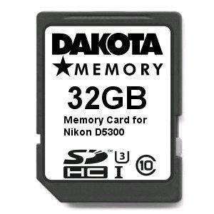 Tarjeta de Memoria Ultra Alta Velocidad para Nikon D5300, 32 ...