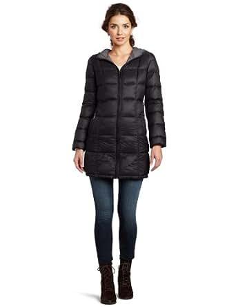 MICHAEL Michael Kors Women's Packable Down Jacket , Black Smoke, Small