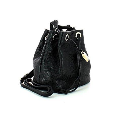 Patrizia Pepe Lock Fly Mini Bag sac monedero Bolso totes piel 15 cm black_black, schwarz