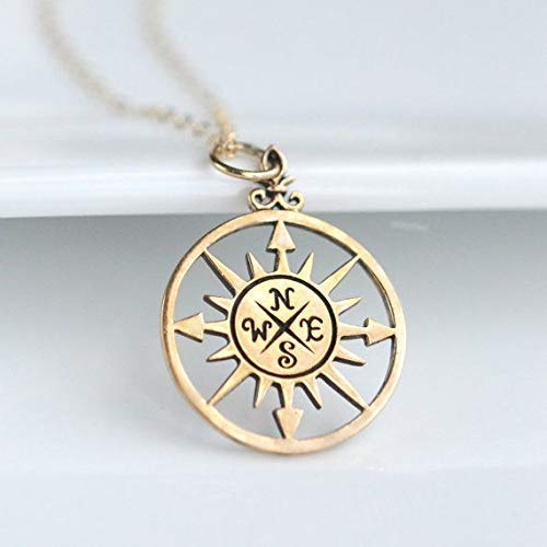 Romantic Gifts for Women /• 14k Gold /• You are My Compass Necklace /• Id be Lost Without You /• Unique Gift for Wife Girlfriend Best Friend /• Engagement Anniversary Gifts for Women
