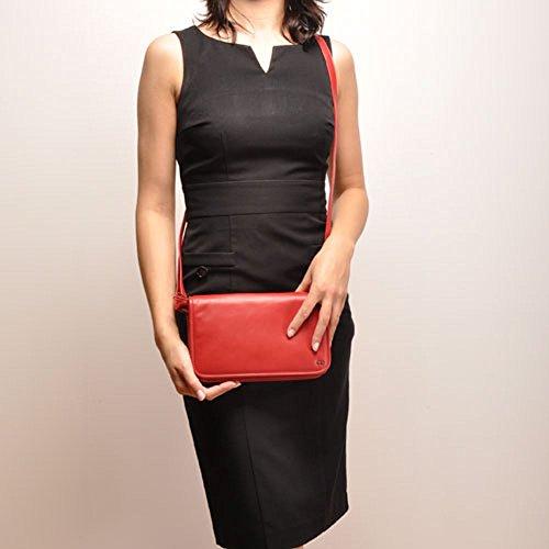 Berba, Borsa a tracolla donna Rosso rosso Breite: 24 cm Höhe: 15 cm Tiefe: 5 cm