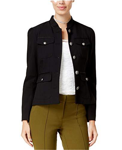XOXO Women's Juniors' Flap-Pocket Peplum Jacket (Caviar, Large)