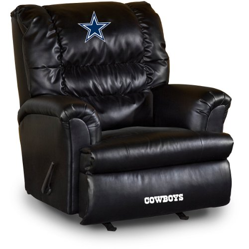Imperial Officially Licensed NFL Furniture: Big Daddy Leather Rocker Recliner, Dallas -