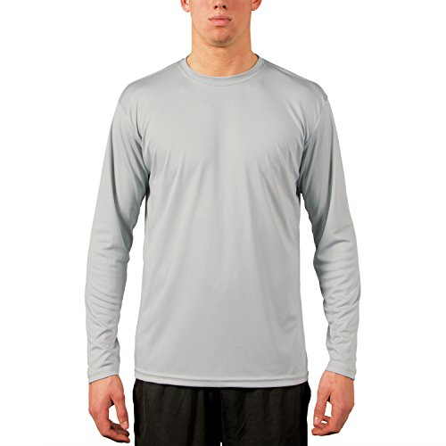 Vapor Apparel Men's UPF Long Sleeve Solar Performance T-Shirt Large Pearl Grey