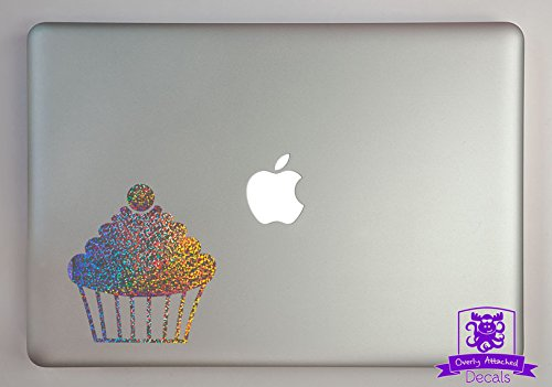 Cherry Topped Cupcake Specialty Vinyl Decal Sized To Fit A 15