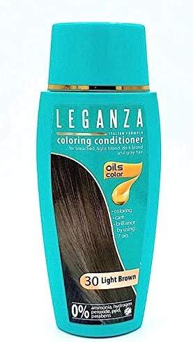Pack Ahorro de 2 x Tintes Bálsamo para cabello sin ammoniaque color marrón claro 30, 7 aceites naturales