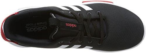 Adidas Mens Cf Racer Tr, Cblack / Ftwwht / Scarle, 9,5 M Us