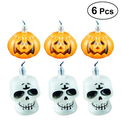 (LUOEM 6 Pcs Halloween Led Lights Halloween String Lights Table Lamp Decorative Bedside Lamp for Home Decor Gifts Costume)