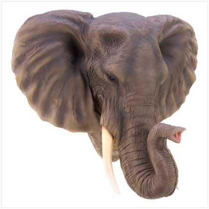 Gifts & Decor Noble Elephant Wall Lifelike Majestic Decorative (Majestic Elephant)