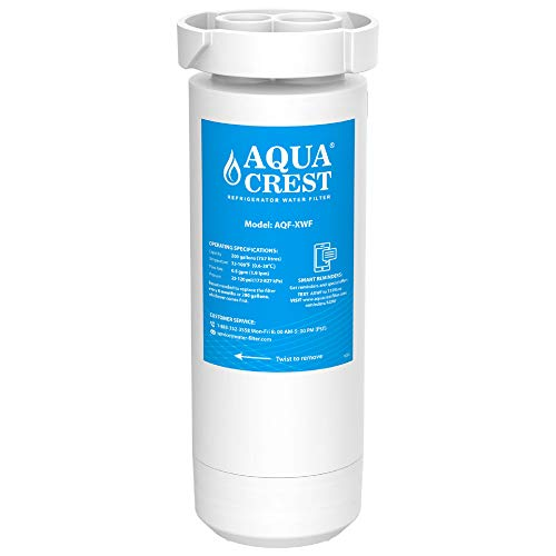 AQUACREST XWF Refrigerator Water Filter, GE Refrigerator Models Starting with GBE21, GDE21, GDE25, GFE24, GFE26, GNE21, GNE25, GNE27, GWE19, GYE18, GSE25, GSS23, GSS25, GZS22, PSE25, CZS22