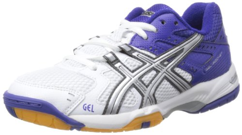Lightning W White Weiß Damen Hallenschuhe Gel Rocket Asics Blue Royal nW7p0x