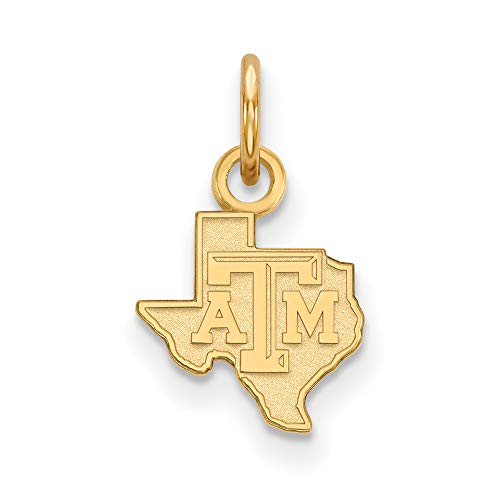 Texas A&M Extra Small (3/8 Inch) Pendant (14k Yellow Gold) ()