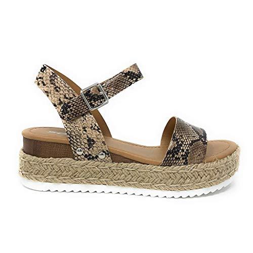 brun Sunnywill occasionnels sandales ouvert bout cheville beige à aiguille string peinte la femme talons avec chaussures bride romaines talon hauts UUqrT