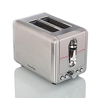 Fortune Candy Extra-Wide Slot 2-Slice Toaster Brushed Stainless Steel
