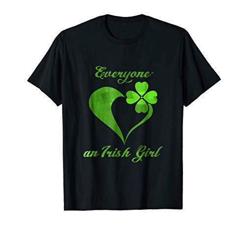 (Everyone Loves an Irish Girl Shirt Design)