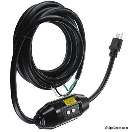 - Hot Tub Classic Parts Vita Spa GFCI Mid-Cord Mount 110 Volt 15 Amp with 15 Foot 14/3 Cord VIT460904