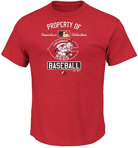 64373a6751b Majestic Athletic Cincinnati Reds Cooperstown Mens Vintage Property Of T  Shirt Big And Tall Sizes (