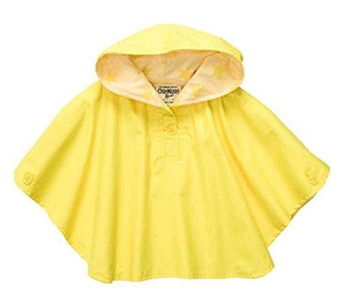 Osh Kosh B'Gosh Infant Girls Yellow Hooded Poncho (24M) (Poncho Baby Girl)