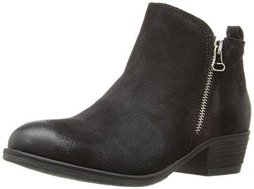 Black with Boot Women's Zipper suede Accent Miz Mooz Bangkok xIqTCnt0w