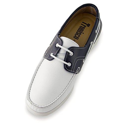 Masaltos Scarpe con Rialzo per Uomo Che Aumentano l'Altezza Fino a 7 cm. Fabbricate in Pelle. Modello Portonovo Bicolore