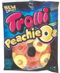 (Trolli Peachie-O's Peach Gummy Rings Candy 3.5oz bags (Pack of 6))