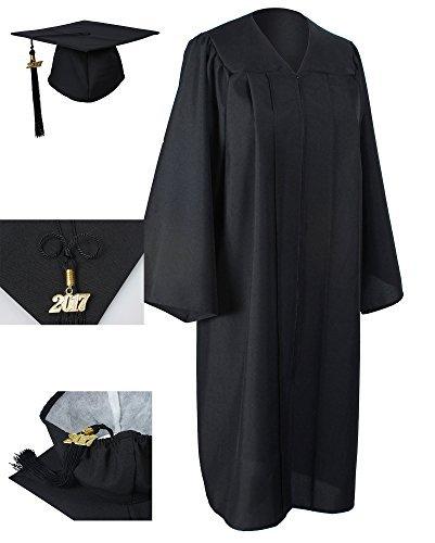 GraduationForYou Matte Graduation Gown Cap Tassel 2017+2018 (Graduation Gown And Cap)