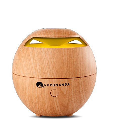 Gurunanda Aromatherapy Best Essential Oil Diffuser Ultrasonic Cool Mist  Light Globe  Diffuser Aroma Essential Oil Humidifier With Adjustable Mist Mode Auto Shut Off