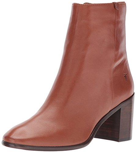 Lamb Booties - FRYE Women's Julia Bootie Boot, Cognac Soft Nappa Lamb, 8.5 M US