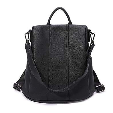 Lanyani Women Backpack Purse Anti-Theft Rucksack Shoulder Bag Girl's Back Pack Black Size: Medium