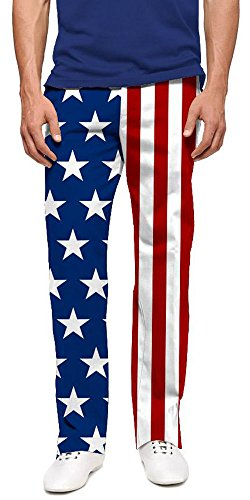 Loudmouth Golf Stars & Stripes StretchTech Men's Pant 36x32 ()