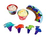Best Juvale Cake Stands - Dinosaur Cupcake Wrappers and Toppers - 50-Pack Jurassic Review