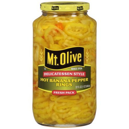 Mt. Olive Hot Banana Pepper Rings, 32 fl oz (Pepper Rings)