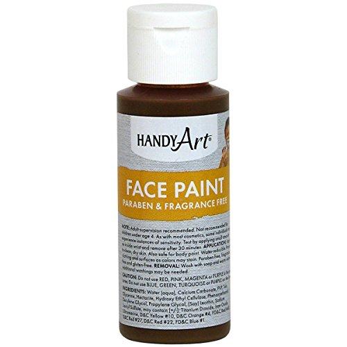 Handy Art Face Paint, Brown, 2-Ounce -