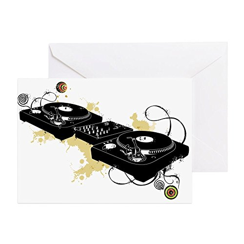 CafePress - Turntable - - Greeting Card, Note Card, Birthday Card, Blank Inside Glossy Christmas Vector Clipart